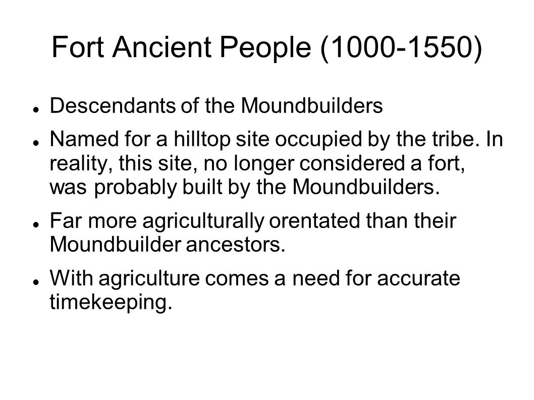 Fort Ancient People (1000-1550)