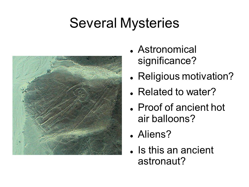Several Mysteries Astronomical significance Religious motivation