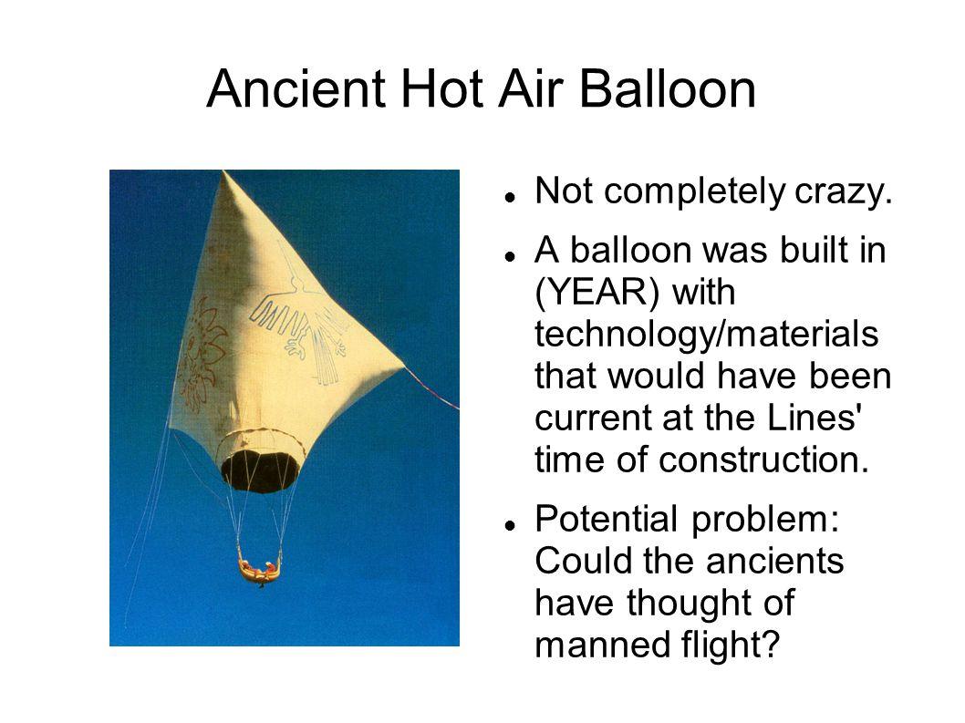 Ancient Hot Air Balloon