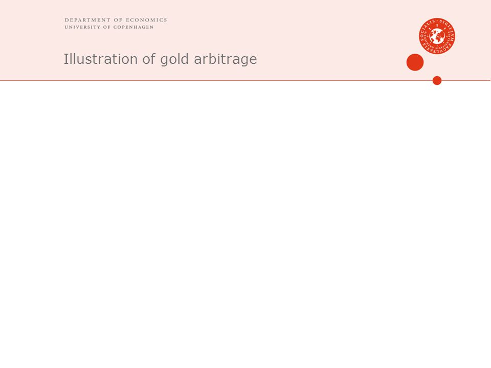 Illustration of gold arbitrage