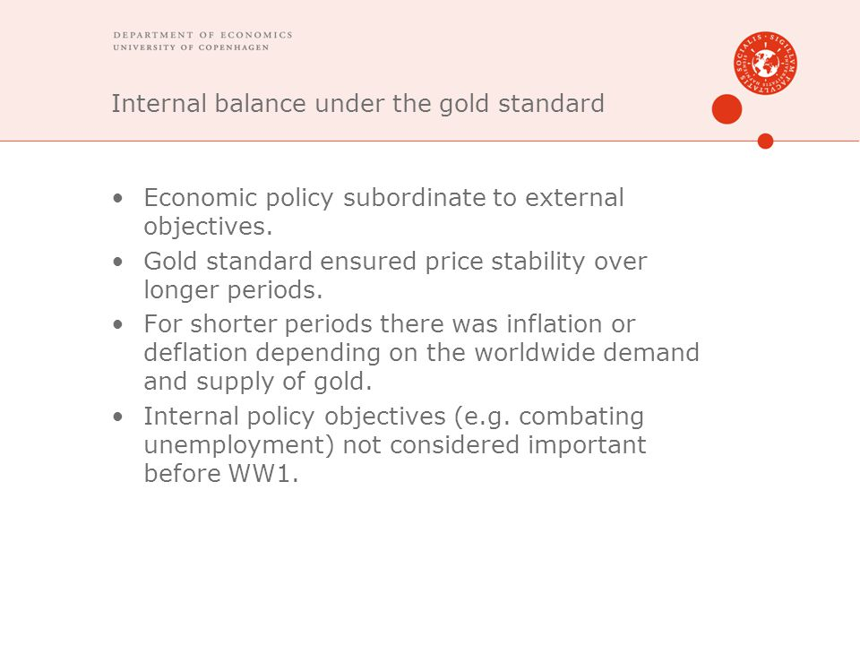 Internal balance under the gold standard