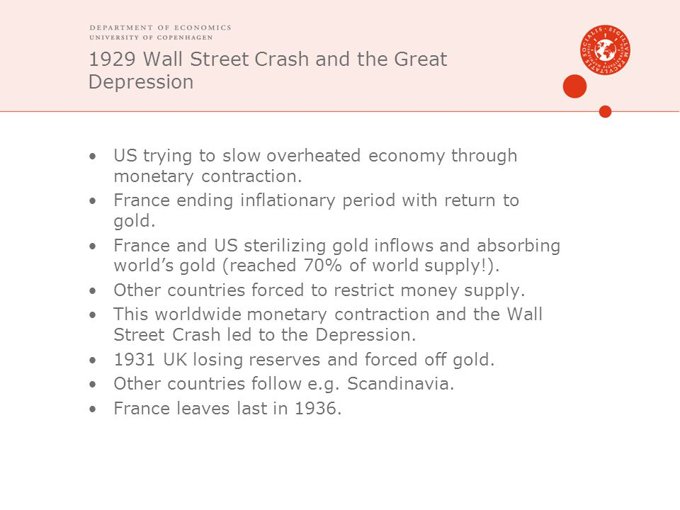 1929 Wall Street Crash and the Great Depression