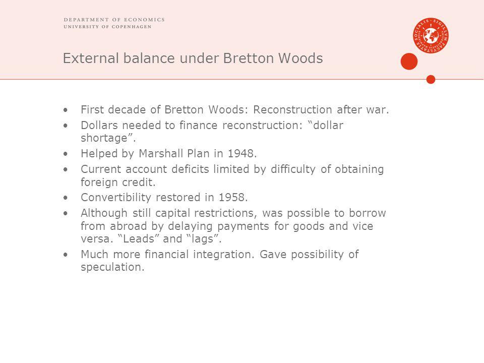 External balance under Bretton Woods