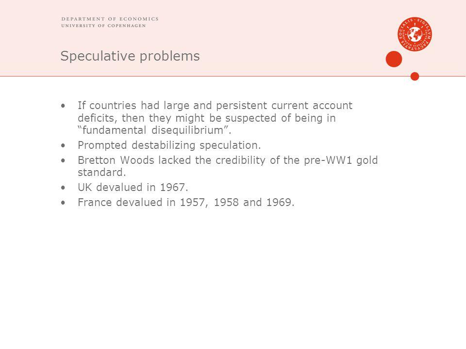 Speculative problems