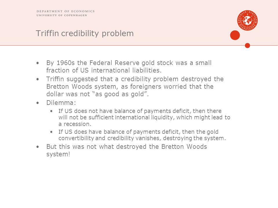 Triffin credibility problem