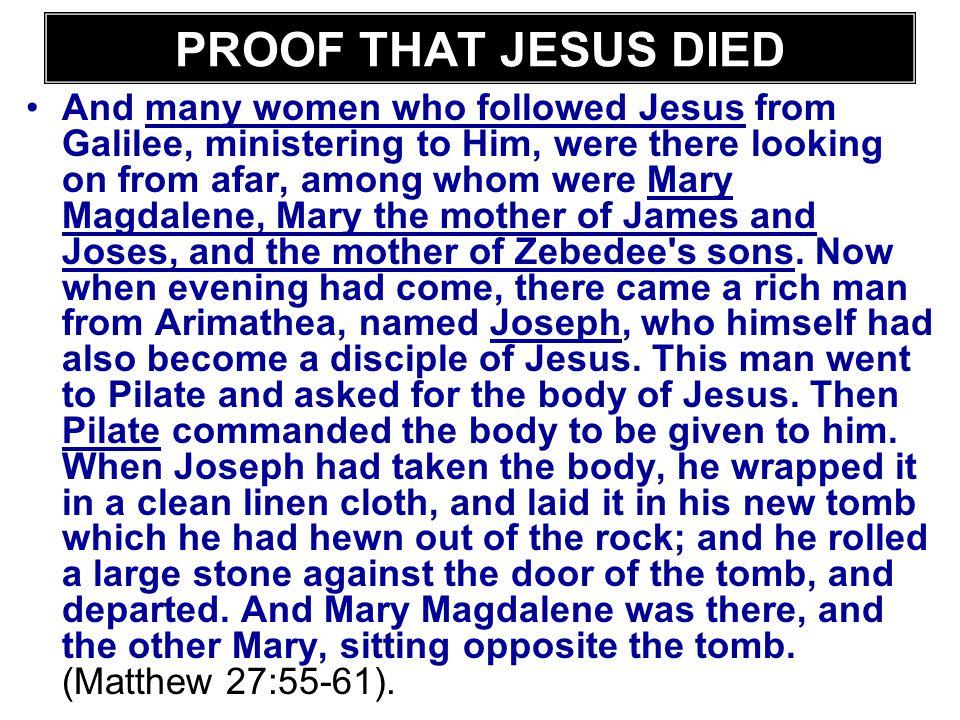 PROOF THAT JESUS DIED