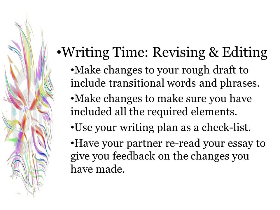 Writing Time: Revising & Editing