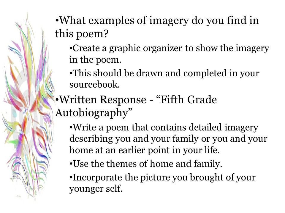 What examples of imagery do you find in this poem