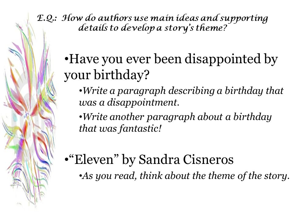 Have you ever been disappointed by your birthday