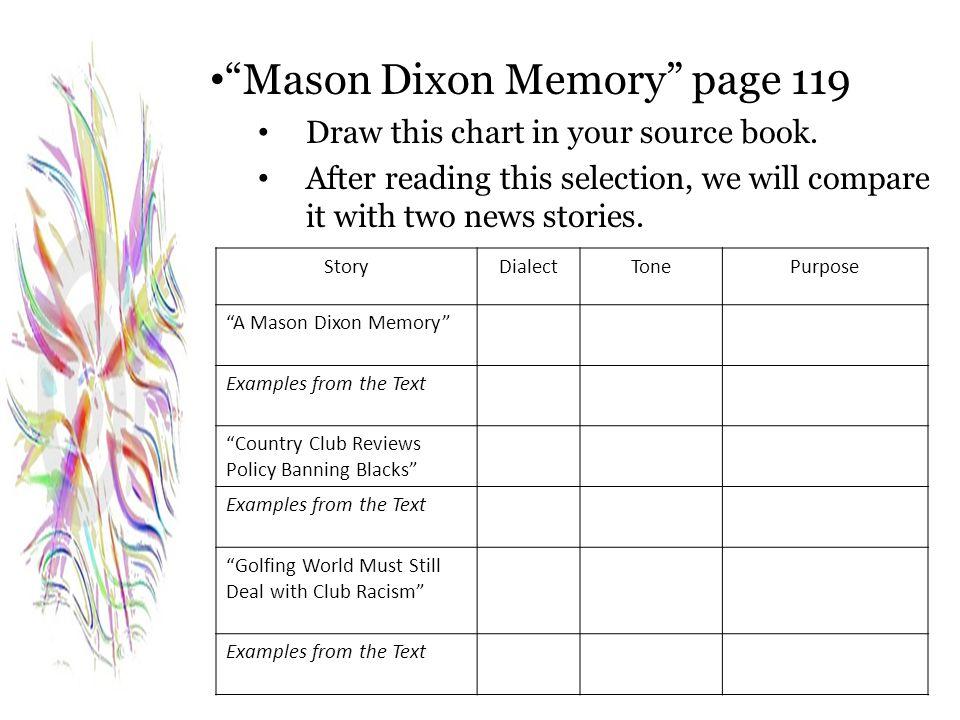 Mason Dixon Memory page 119