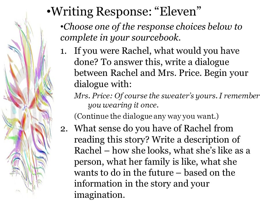Writing Response: Eleven