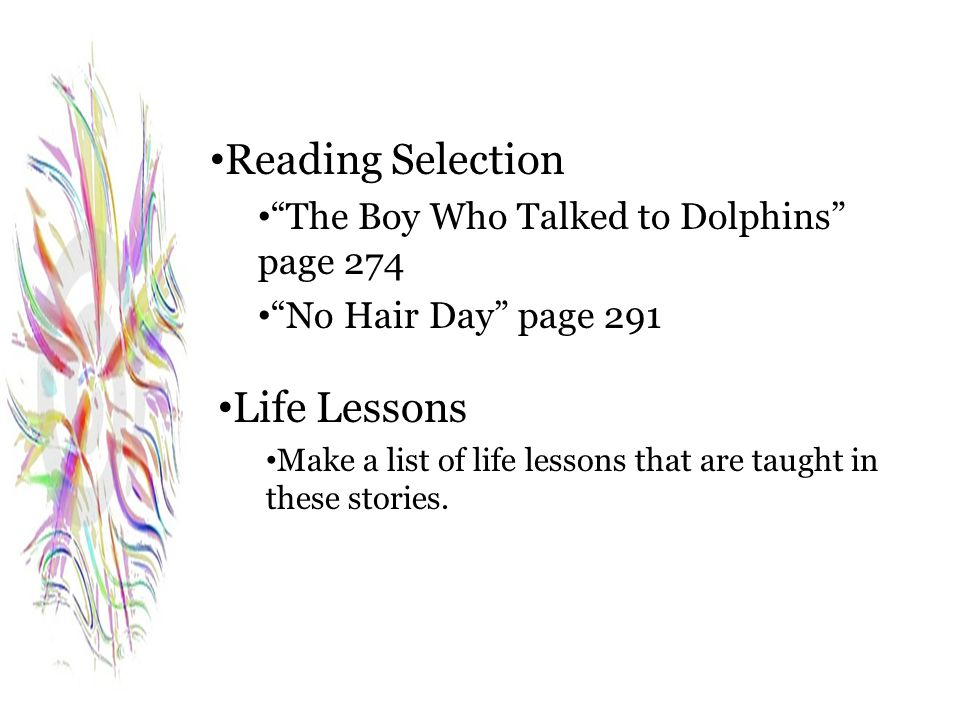 Reading Selection Life Lessons