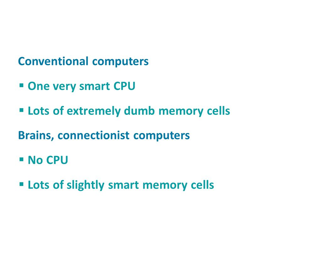Conventional computers