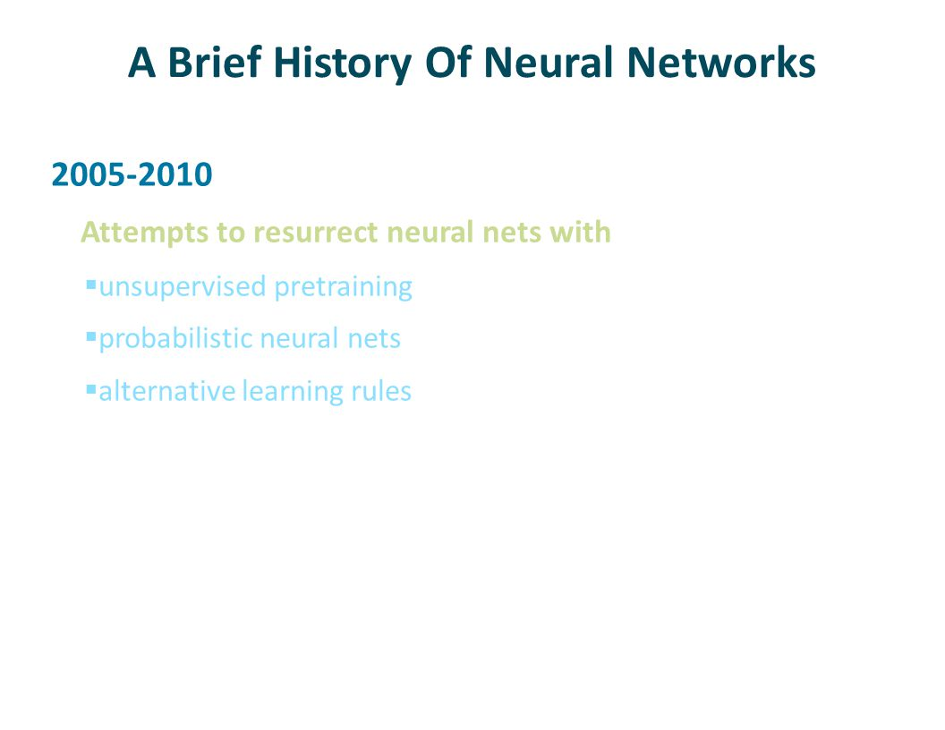 A Brief History Of Neural Networks