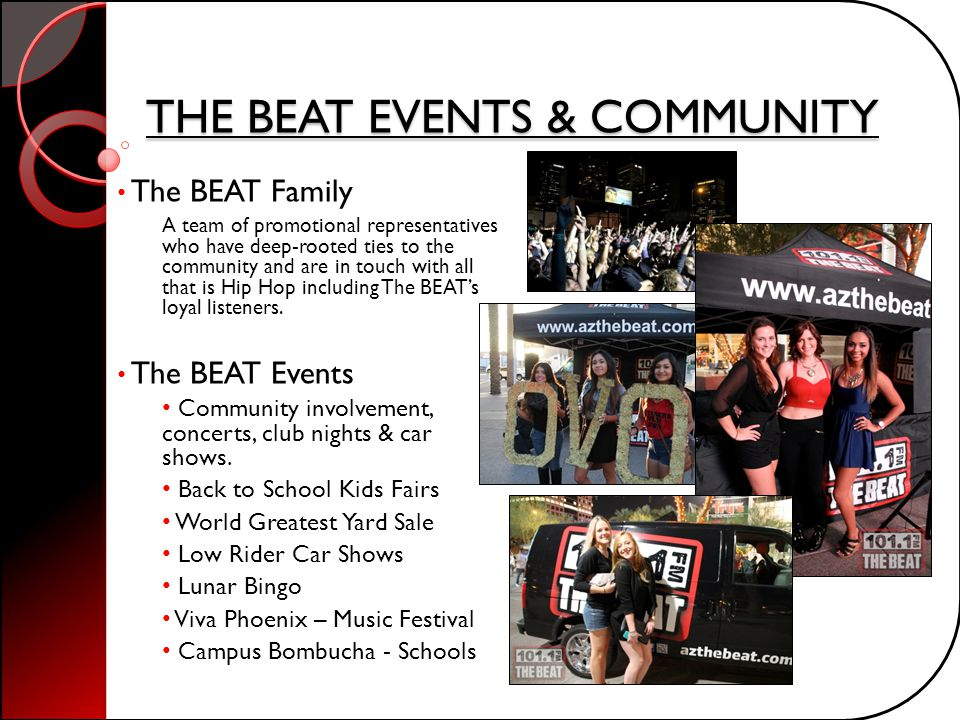 THE BEAT EVENTS & COMMUNITY