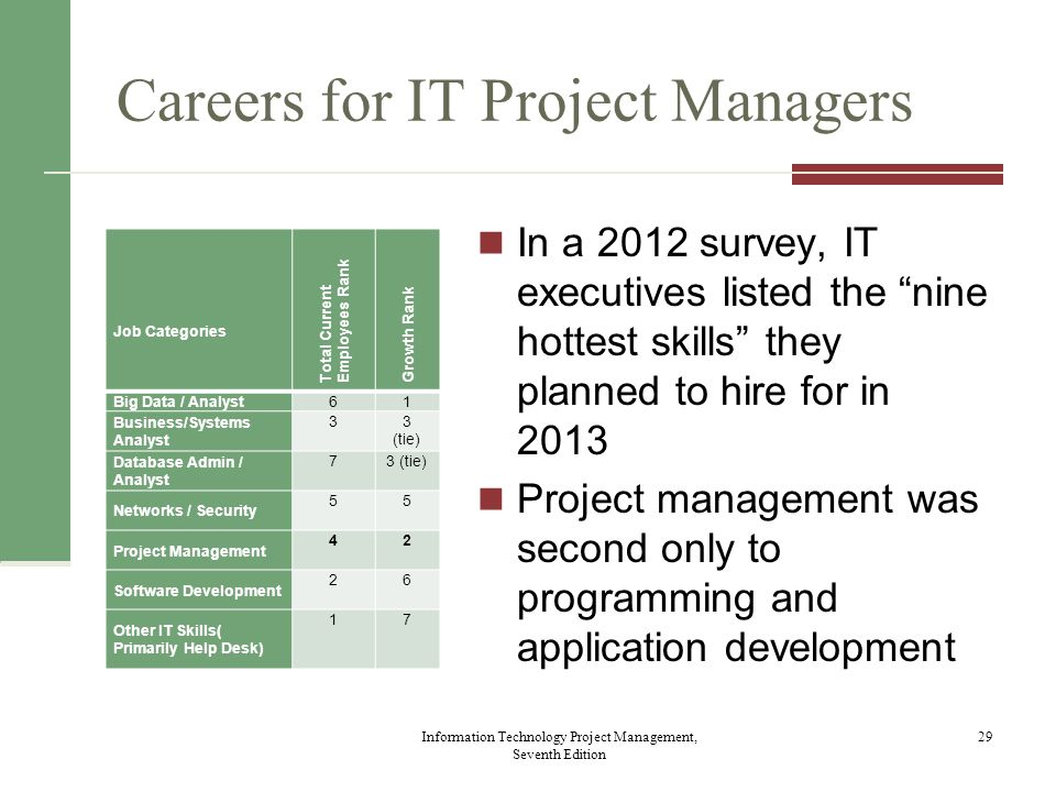 Careers for IT Project Managers