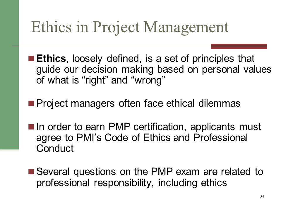 Ethics in Project Management
