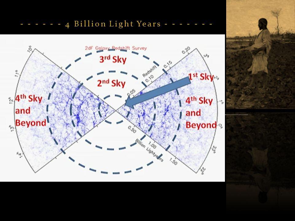 - - - - - - 4 Billion Light Years - - - - - - -