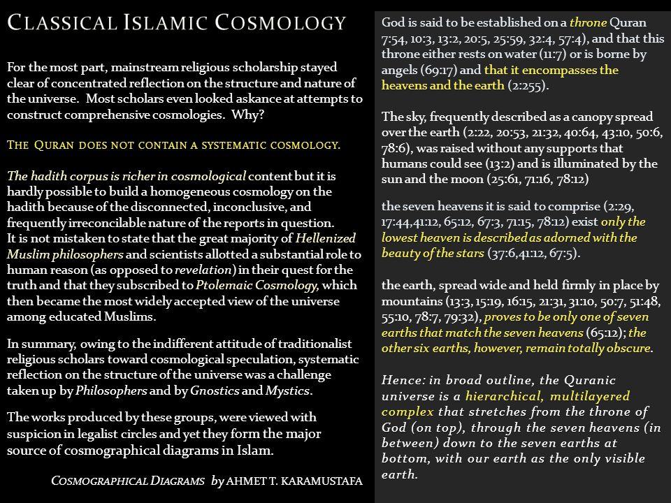 Classical Islamic Cosmology
