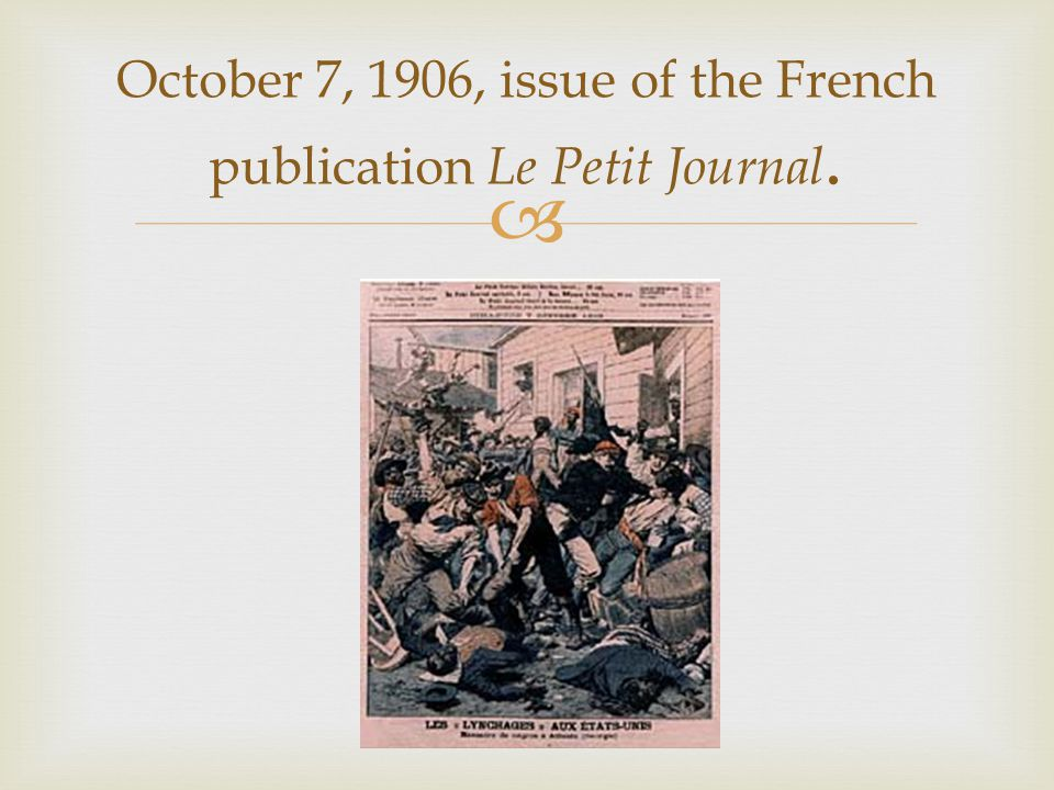 October 7, 1906, issue of the French publication Le Petit Journal.