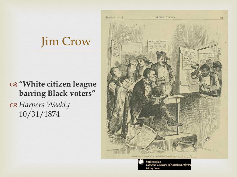 Jim Crow White citizen league barring Black voters
