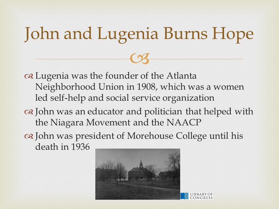John and Lugenia Burns Hope