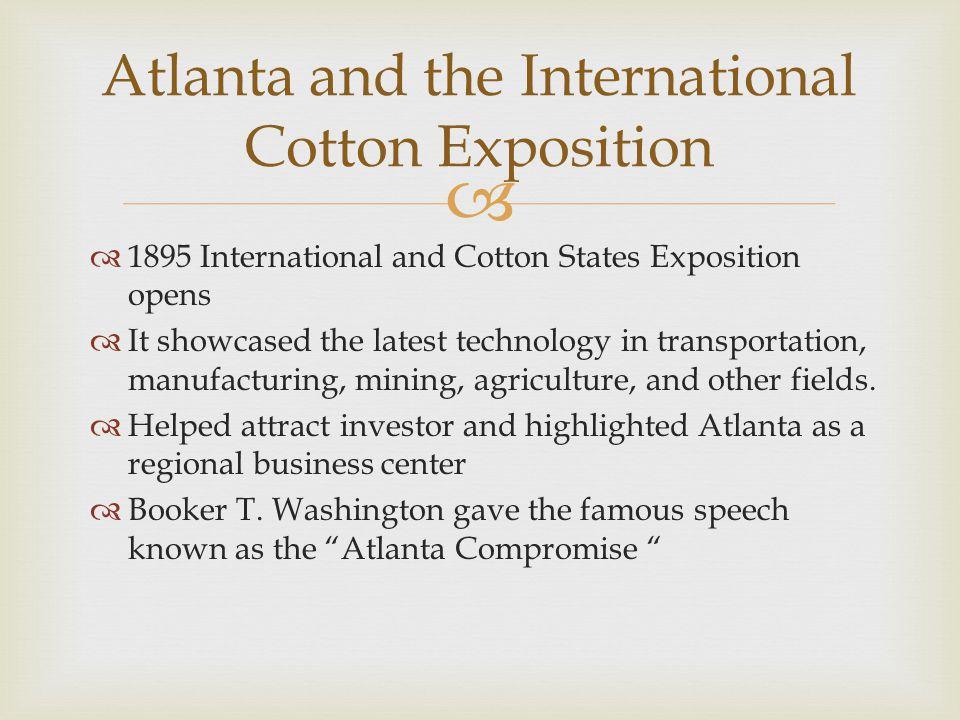 Atlanta and the International Cotton Exposition