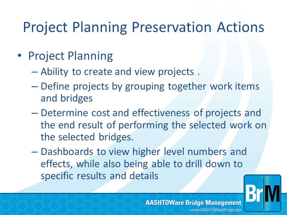 Project Planning Preservation Actions