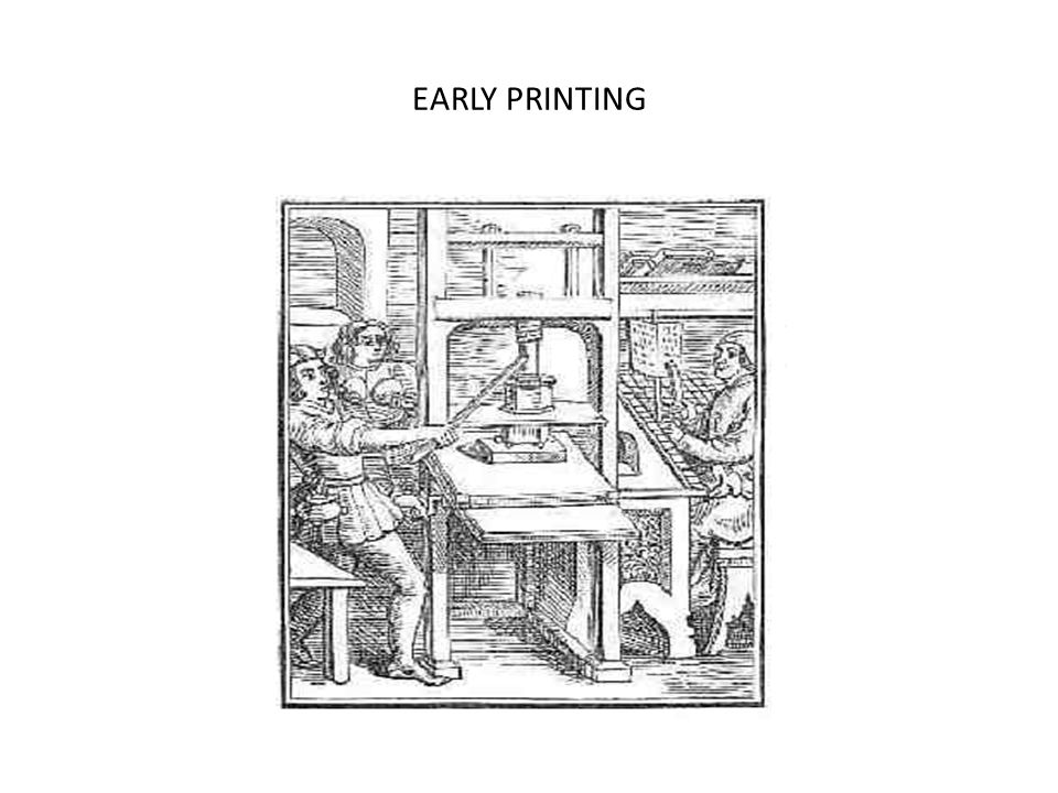 EARLY PRINTING