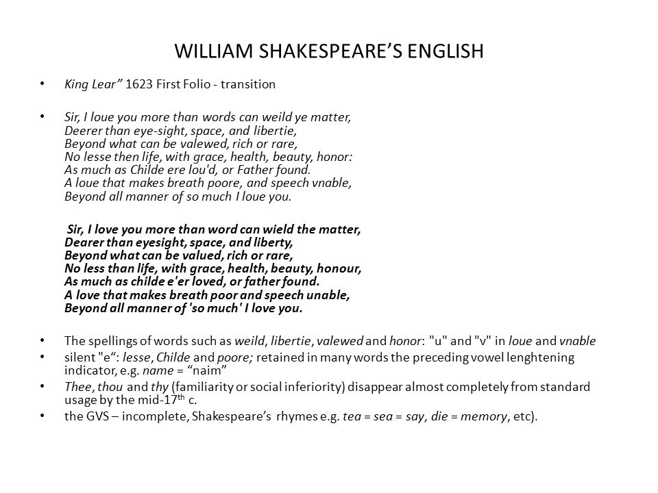 WILLIAM SHAKESPEARE'S ENGLISH