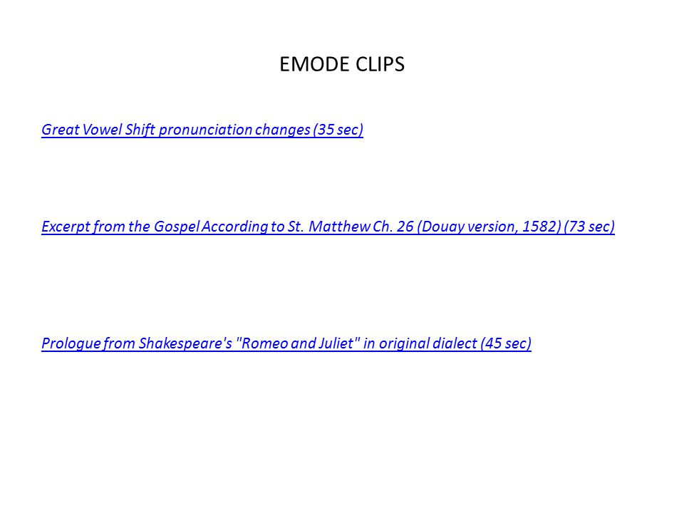 EMODE CLIPS