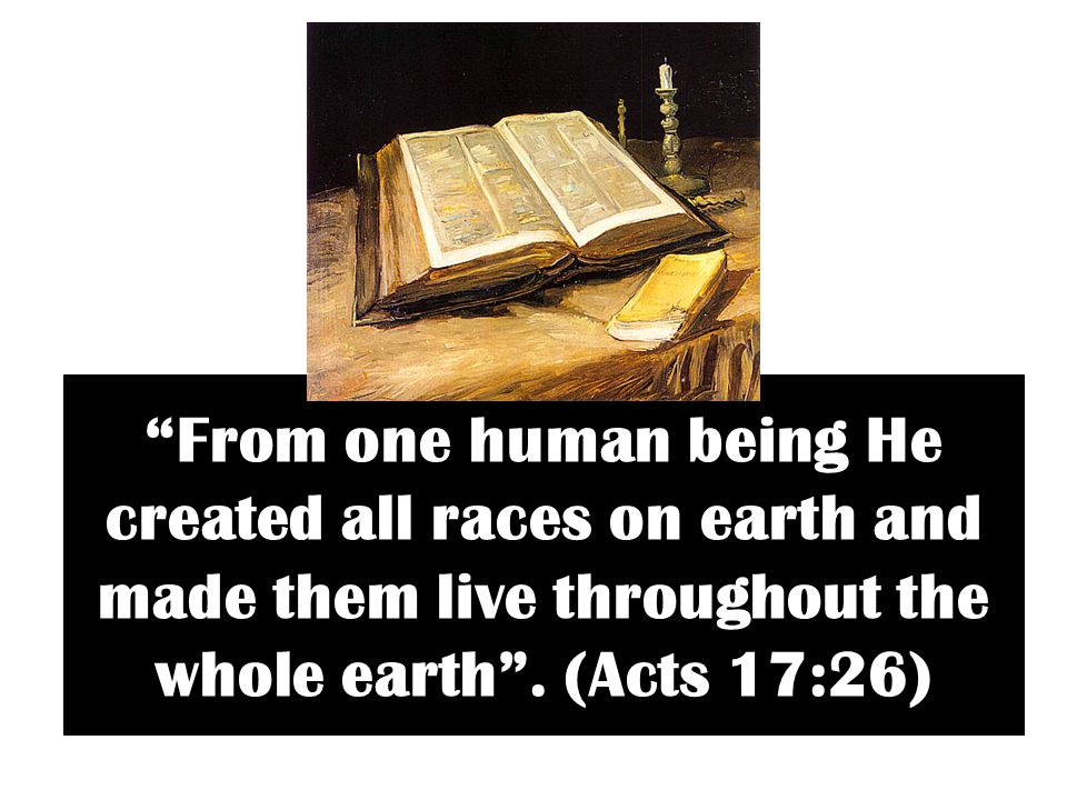 From one human being He created all races on earth and made them live throughout the whole earth .