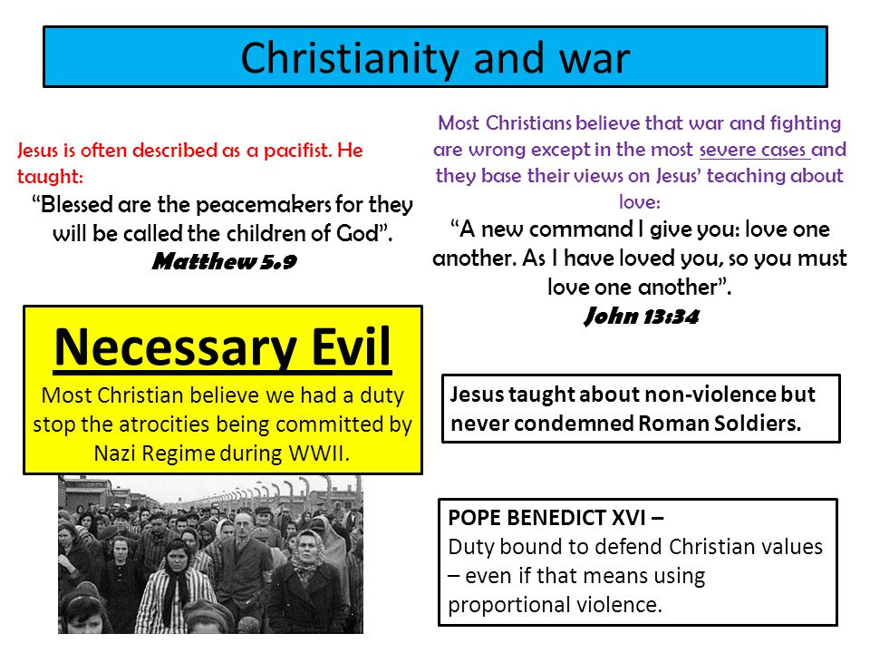 Necessary Evil Christianity and war