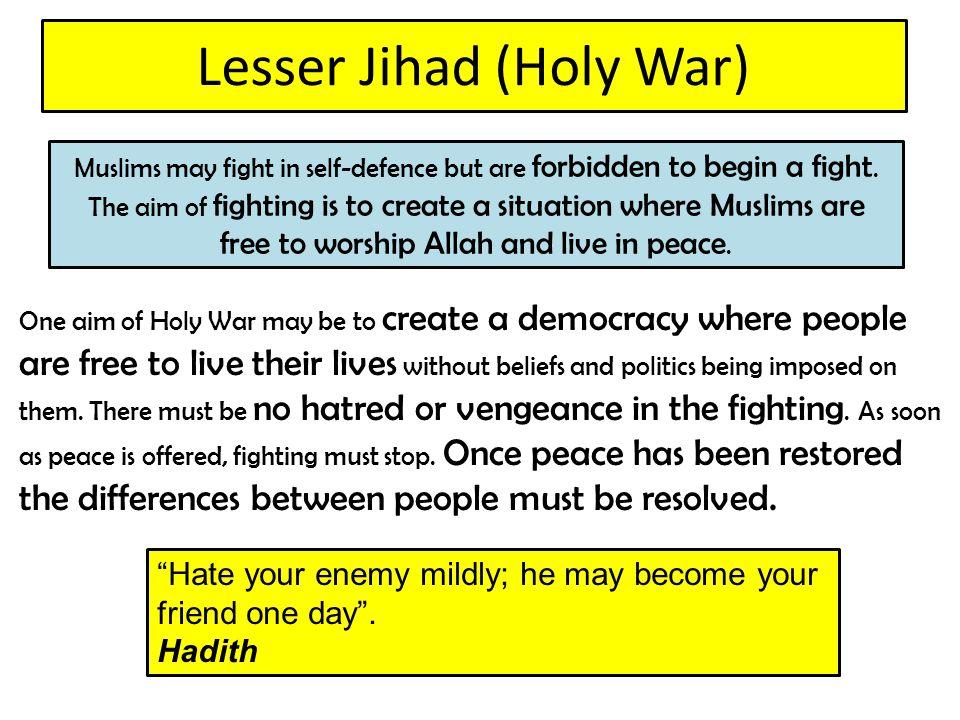 Lesser Jihad (Holy War)
