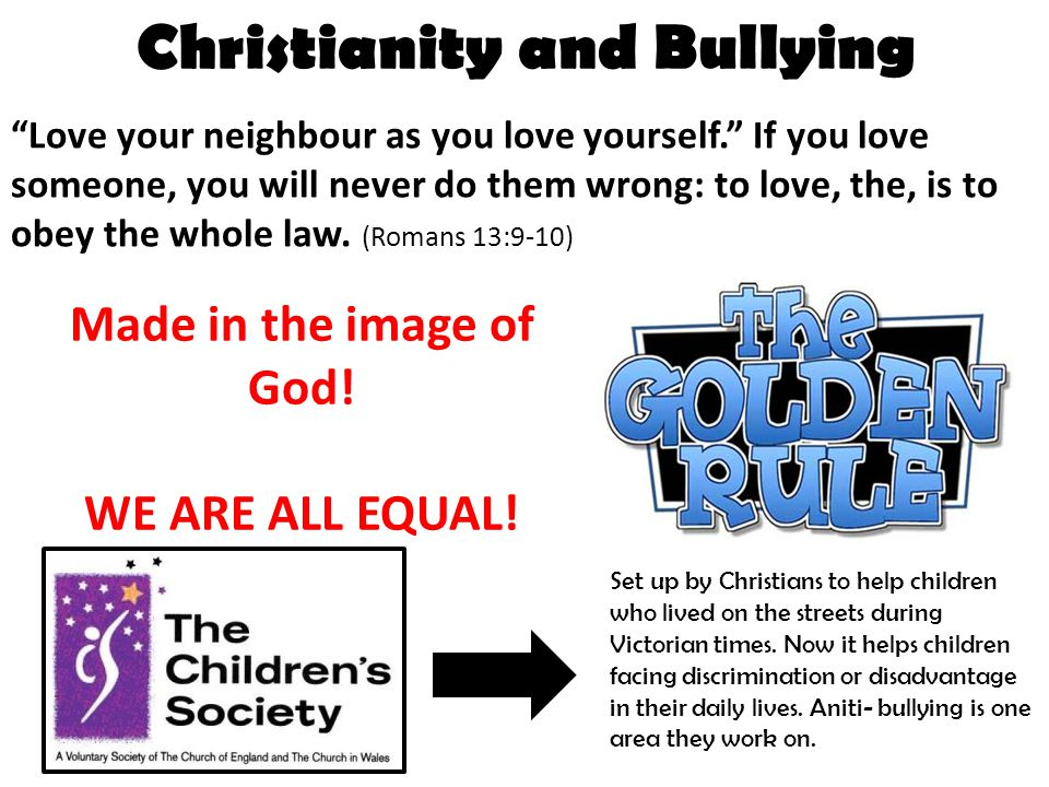 Christianity and Bullying