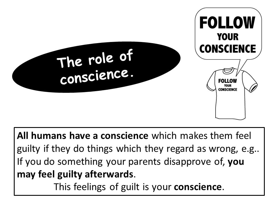 This feelings of guilt is your conscience.