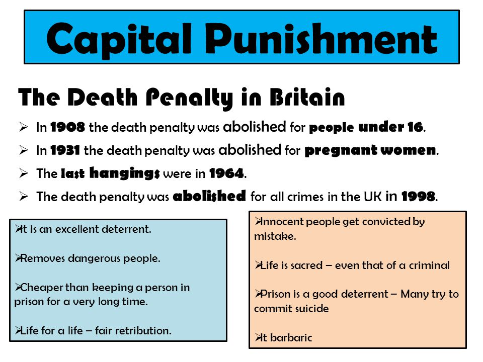 capital punishment in britain The uk unilaterally restricted the export of death penalty drugs to the united states in 2010 under the direction of the business secretary vince cable the european union followed suit at.