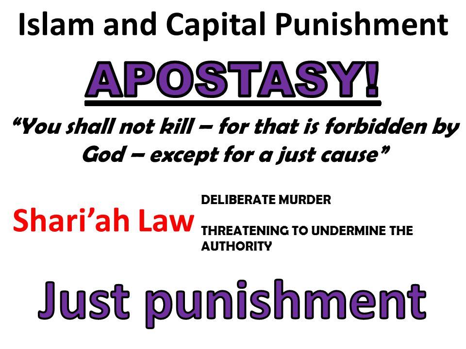 Islam and Capital Punishment