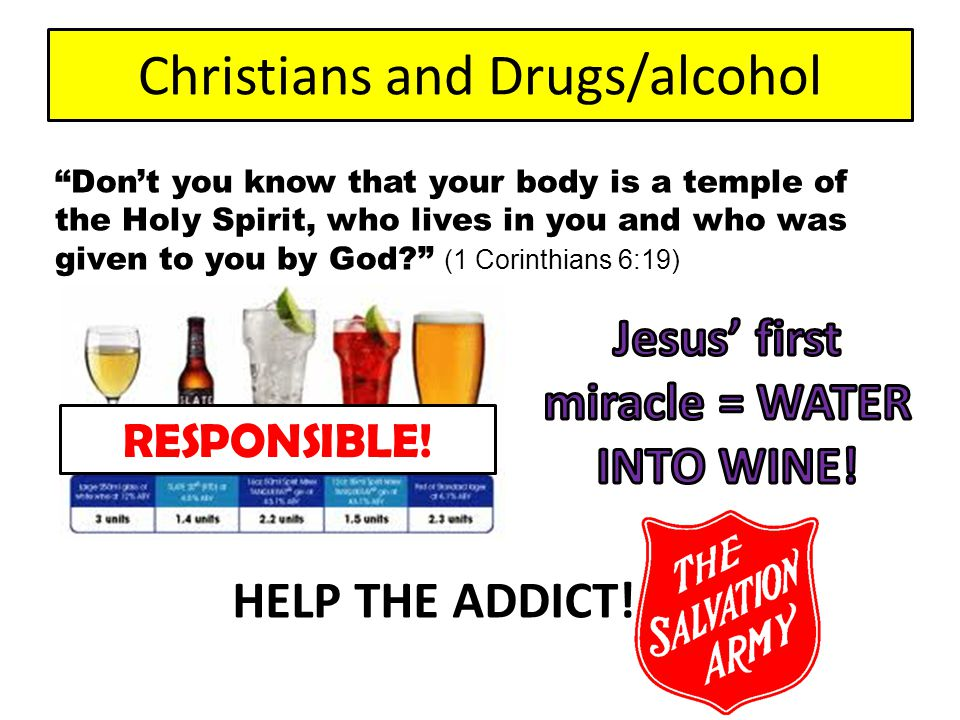 Christians and Drugs/alcohol