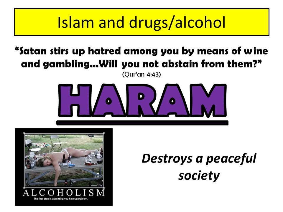 Islam and drugs/alcohol