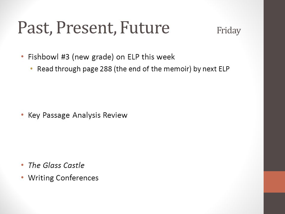 Past, Present, Future Friday
