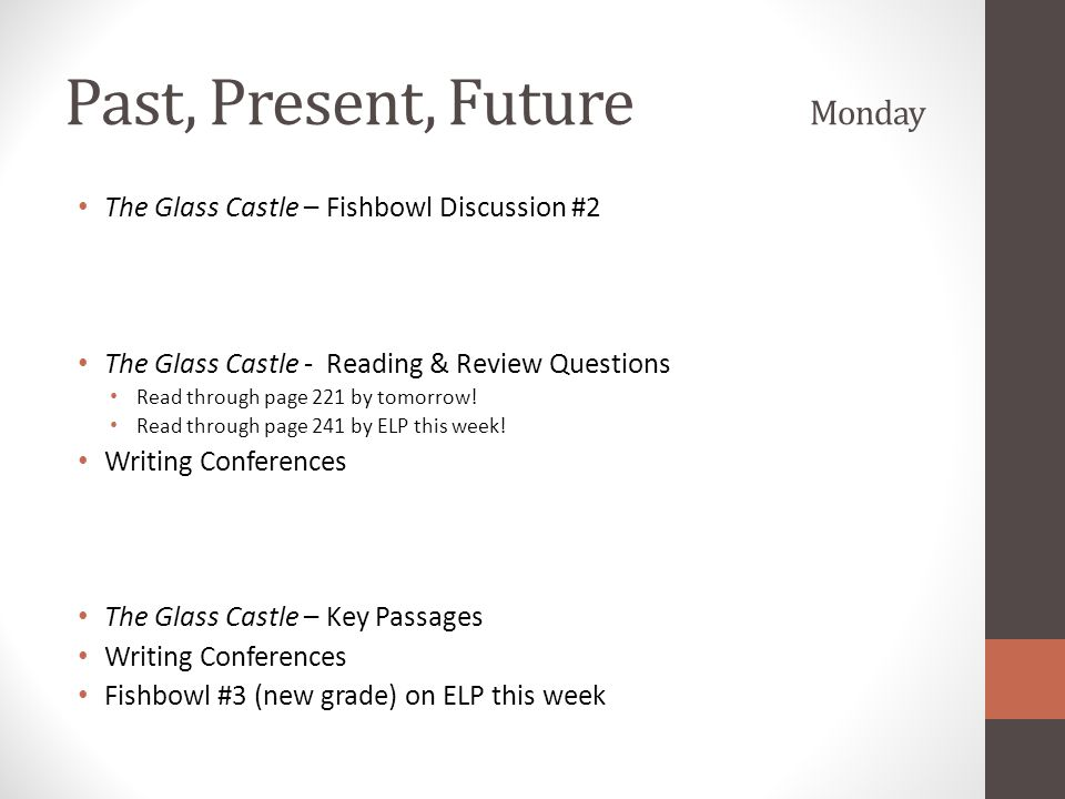 Past, Present, Future Monday