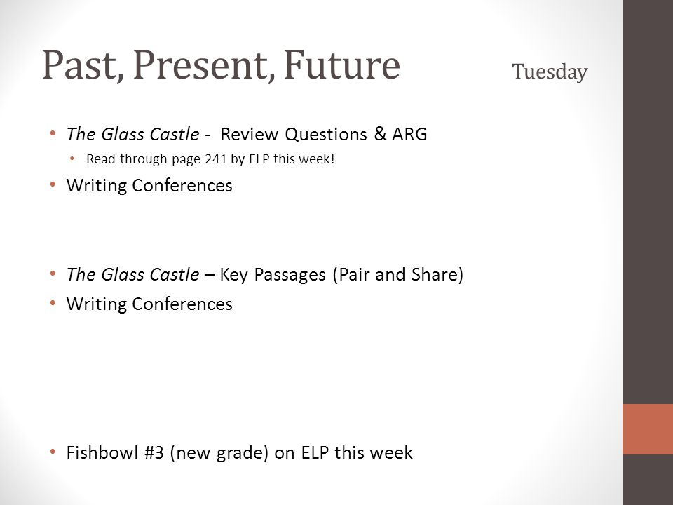 Past, Present, Future Tuesday