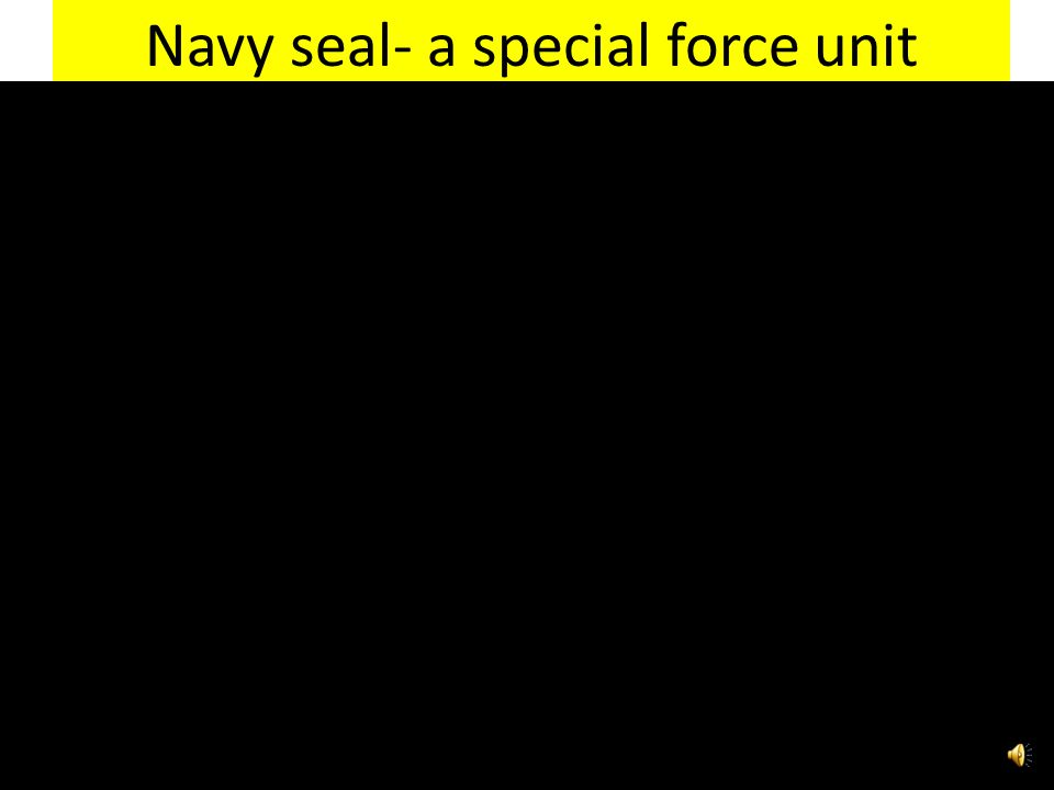 Navy seal- a special force unit