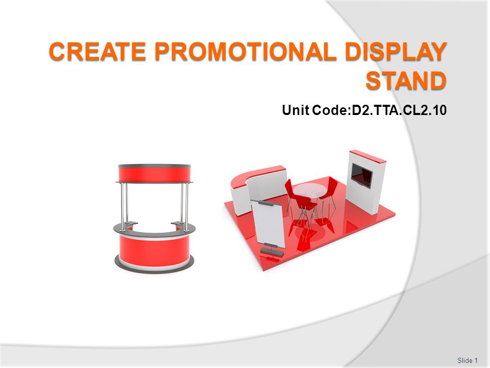 Create Promotional Display Stand - ppt download