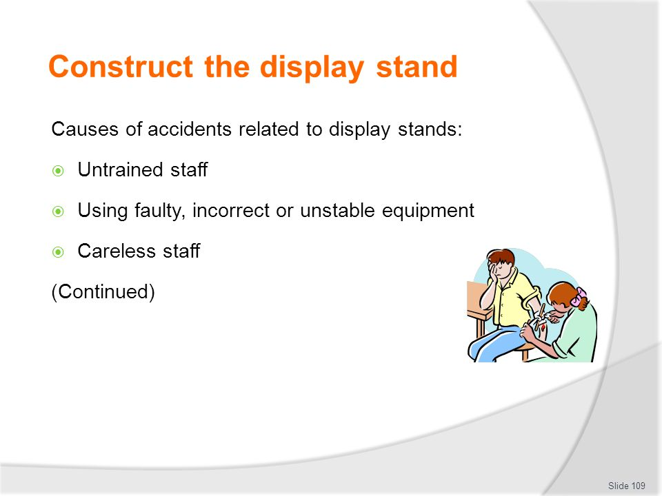 Construct the display stand