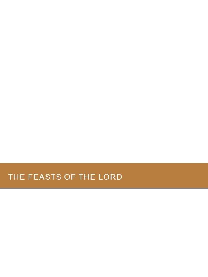 The feasts of the Lord