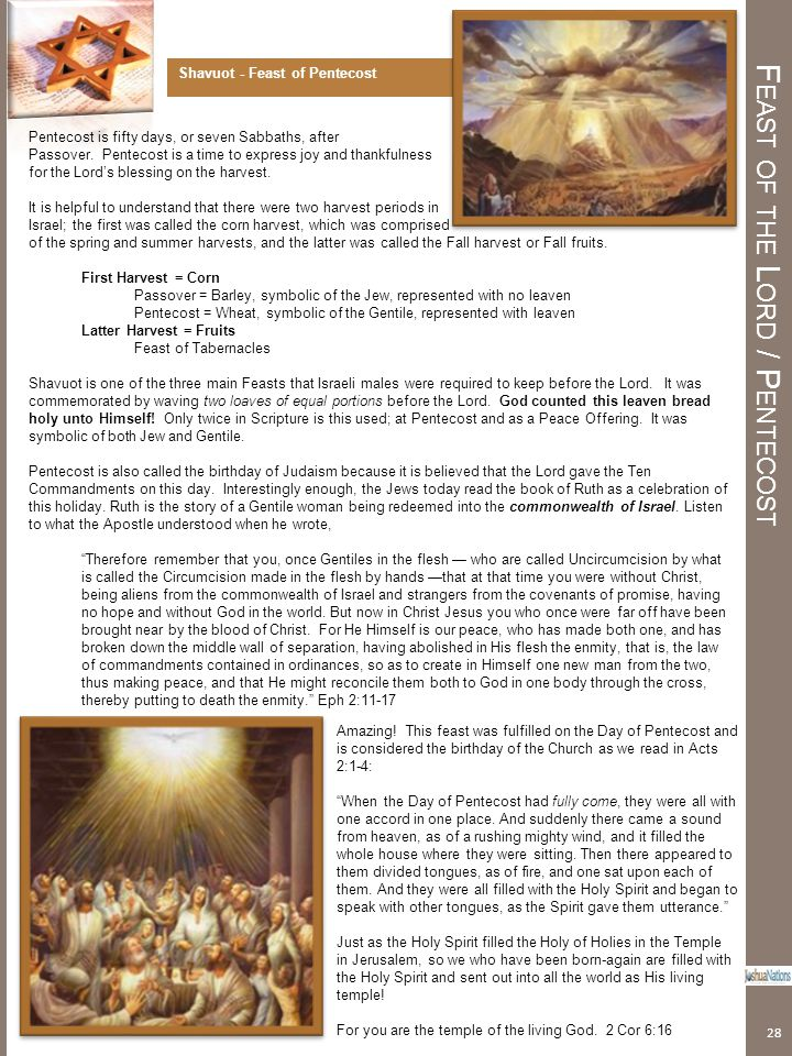 Feast of the Lord / Pentecost