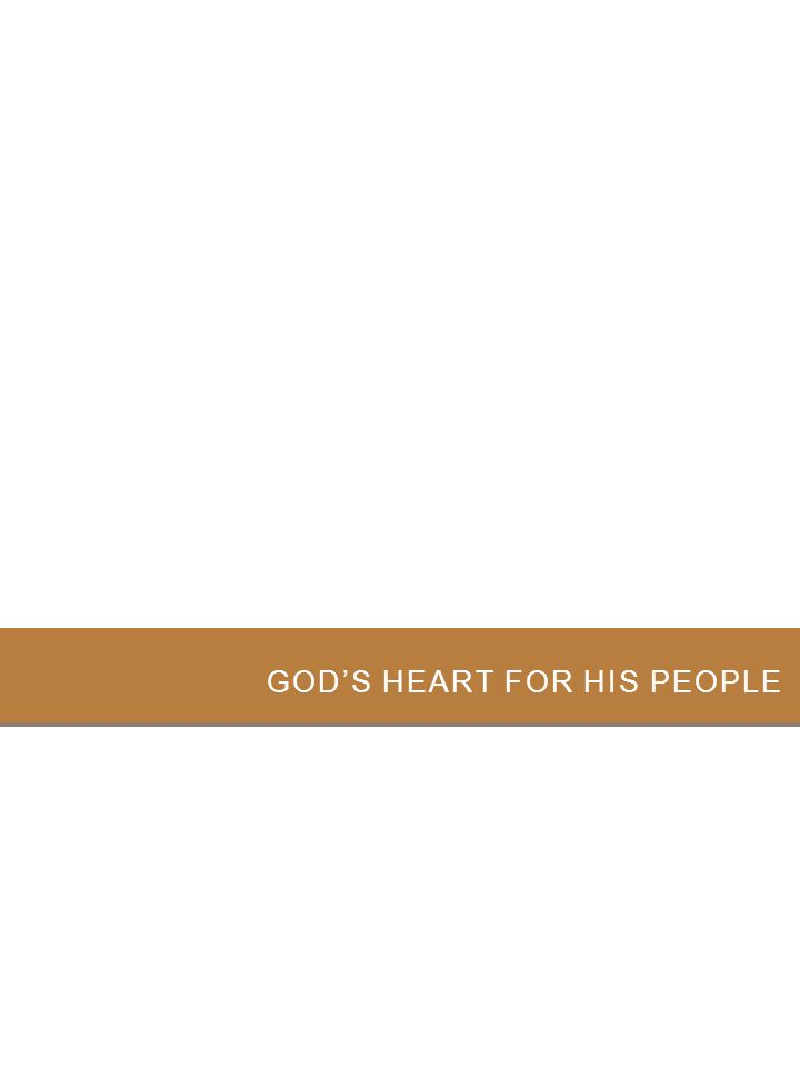 God's Heart for His People