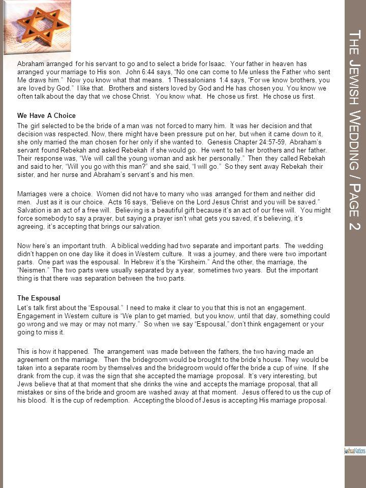 The Jewish Wedding / Page 2